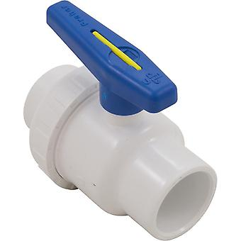"Praher 150-010 1.5"" Socket PVC Single Union Ball Valve"