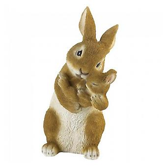 Summerfield Terrace Mother and Baby Bunny Rabbit Bonding Time Figurine, Pack of 1