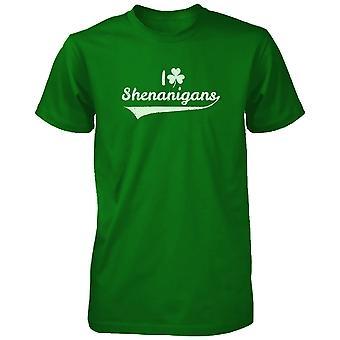 I Clover Shenanigans Funny Saint Patricks Day Unisex Green Graphic Shirts
