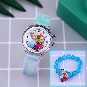 Kids Silicone Strap Princess Bracelet Watches