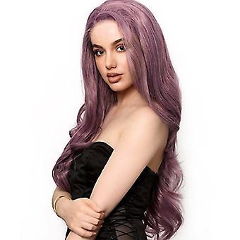 Frauen Lila Volle Perücke Kostüm Damen Lockig Wellig Lange Haare Perücken Cosplay Party