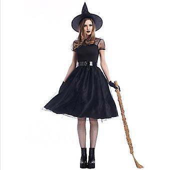 Hexen kostüm Halloween Party Dress Up Deluxe Set mit Hutrock