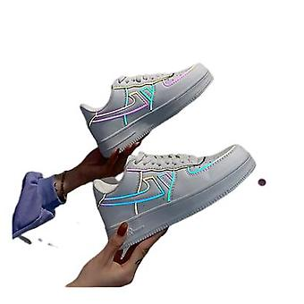 Kleur reflecterende sneakers Air Force One mannen en vrouwen casual schoenen