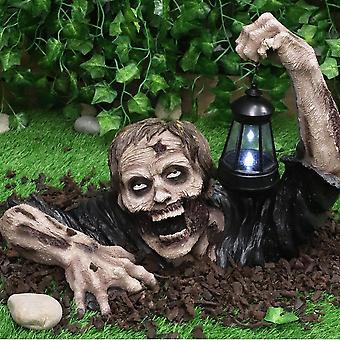Halloween Zombie Horror Lantern Outdoor Lamp Zombie Statue Home And Garden Decoration