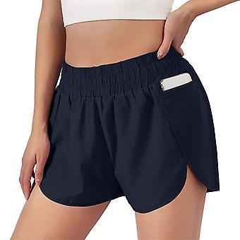 Women's Yoga Shorts 2 In 1 Pocket Hot Pants Workout Running
