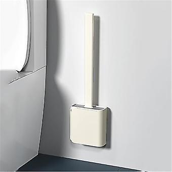 Brosse de toilette sans poinçon Brosse de salle de bain murale Tpr Brosse douce peut être stockée