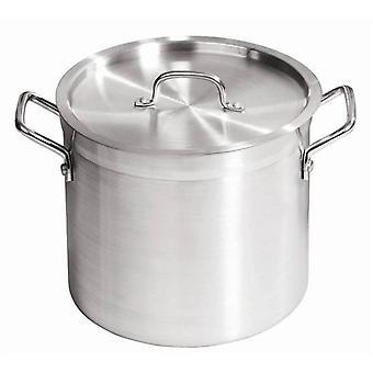 30 Ltr Aluminium soeppan met deksel