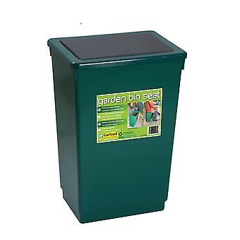 Papelera jardín asiento almacenamiento silla basura plástico verde
