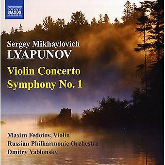 S.M. Lyapunov - Sergey Lyapunov: Violin Concerto; Symphony No. 1 [CD] USA import