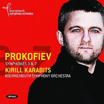 Prokofiev / Karabits - Syms 3 & 7 [CD] USA import