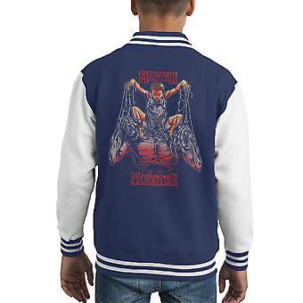Master And The Monster Stranger Things Eleven Demogorgon Kid's Varsity Jacket