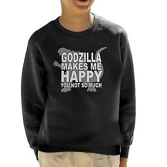 Godzilla macht mich glückliches Kind Sweatshirt