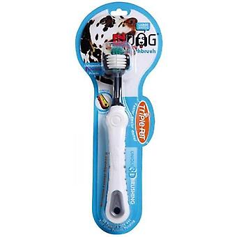 Escova de dentes grandes raças EzDog Triplepet