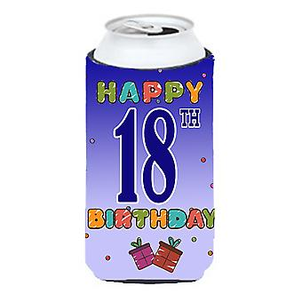 Happy 18th Birthday Tall Boy Beverage Insulator Hugger