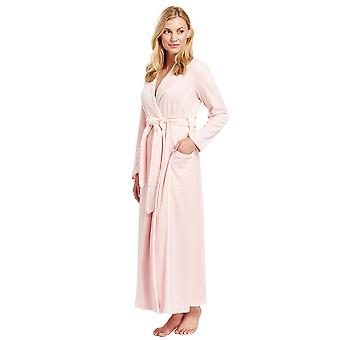 Féraud 3883035-10013 Kvinnor's Peach Pink Cotton Robe Loungewear Bad Dressing Klänning