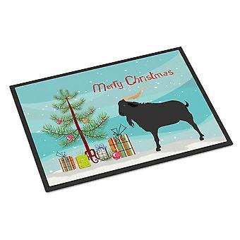 キャロラインズ宝物 BB9249MAT Verata ヤギ クリスマス屋内または屋外マット 18 x 27
