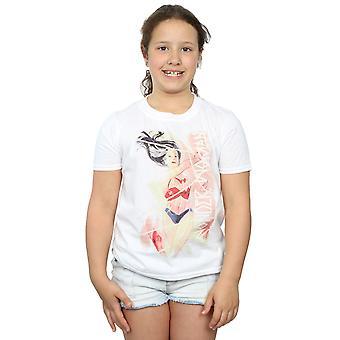 DC Comics chicas maravilla mujer acuarela lazo t-shirt