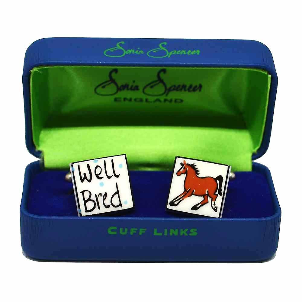 Well Bred - Stallion Cufflinks by Sonia Spencer, in Presentation Gift Box. Horse