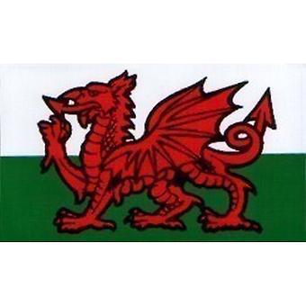 W4 Welsh Dragon Rectangle Sticker