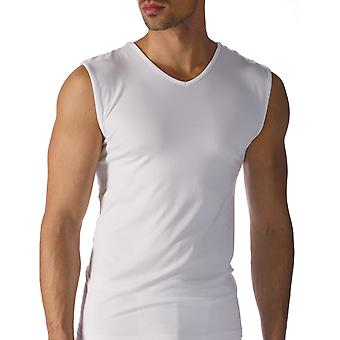 Mey 42637-101 mäns programvara vit färg linne Vest