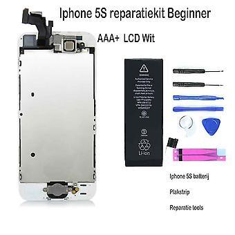 IPhone 5S LCD reparera och uppgradera kit-för nybörjare-vita