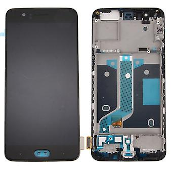 Pour ONEPLUS 5 Five Display Full OLED LCD Complete Unit - Frame Repair Black