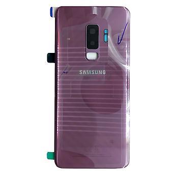 Новый Samsung GH82-15652B крышка отсека для S9 Галактика плюс G965F + клей площадку сиреневый фиолетовый фиолетовый