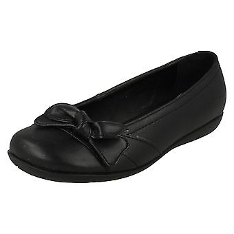 Girls Cutie Flat Casual Bow Trim Vamp Shoes X3009
