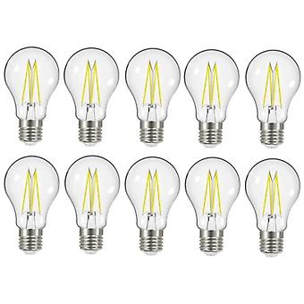 20 X Energizer 7.2W = 60W LED Filament GLS Light Bulb Lamp Vintage ES E27 Clear Edison Screw [Energy Class A+]