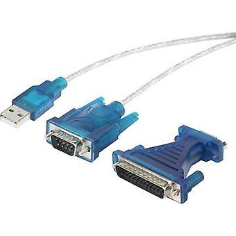 رينكفورسي محول الناقل التسلسلي العام 1.1 [1 × د-SUB-التوصيل التوصيل 9-البطارية, مد الفرعية 25-دبوس-1 أ الرابط x USB 1.1] الذهب مطلي موصلات