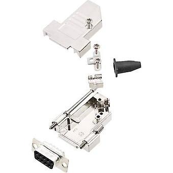 encitech DTSL09-S-JSRG + DMS-K 6355-0042-31 D-SUB behållare set 45 ° antal stift: 9 löda hink 1 set