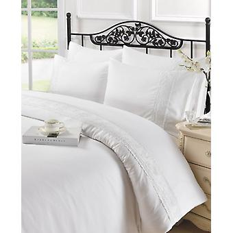 Charlotte Lace Modern Duvet Quilt Cover Bedding Set with Pillowcases All Sizes