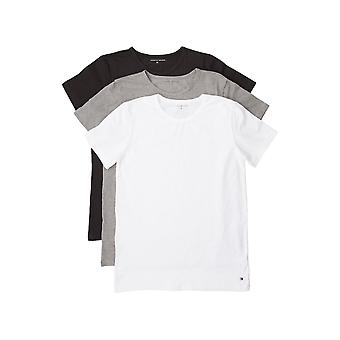 Tommy Hilfiger Premium Essential Crew Neck T-shirt 3 Pack - Black/White/Grey