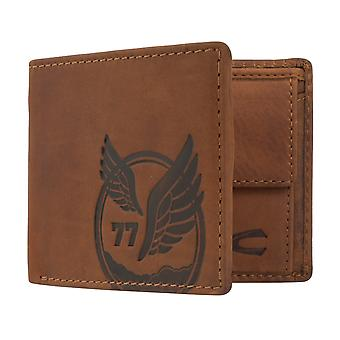 Camel active mens wallet wallet purse with RFID-chip protection Brown 7378