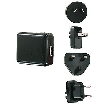 Unlimited Cellular Universal USB International Travel Charger Kit (5V 1A) for iPhone, iPod, MP3 (Black) - TCK-USB