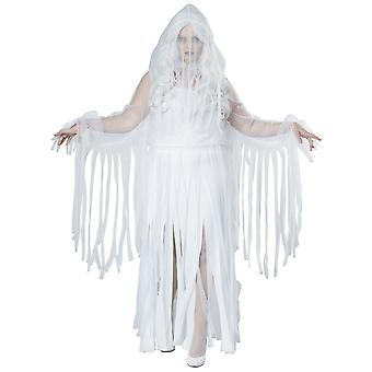 Ghostly Spirit Ghost Soul Haunt Phantom Halloween Womens Costume Plus Size