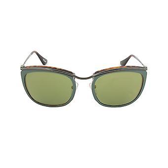 Gafas de sol de Persol PO3081S 1007/08 | Marco verde y mate la Habana | Lente de espejo verde oro