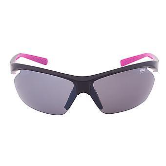 Fila deporte FAC5024 001 Wrap gafas de sol | Marco negro | Lente gris