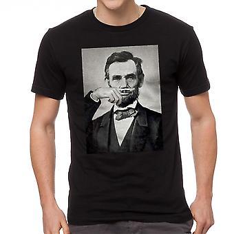 Abraham Lincoln Schnurrbart Grafik T-Shirts für Herren schwarz
