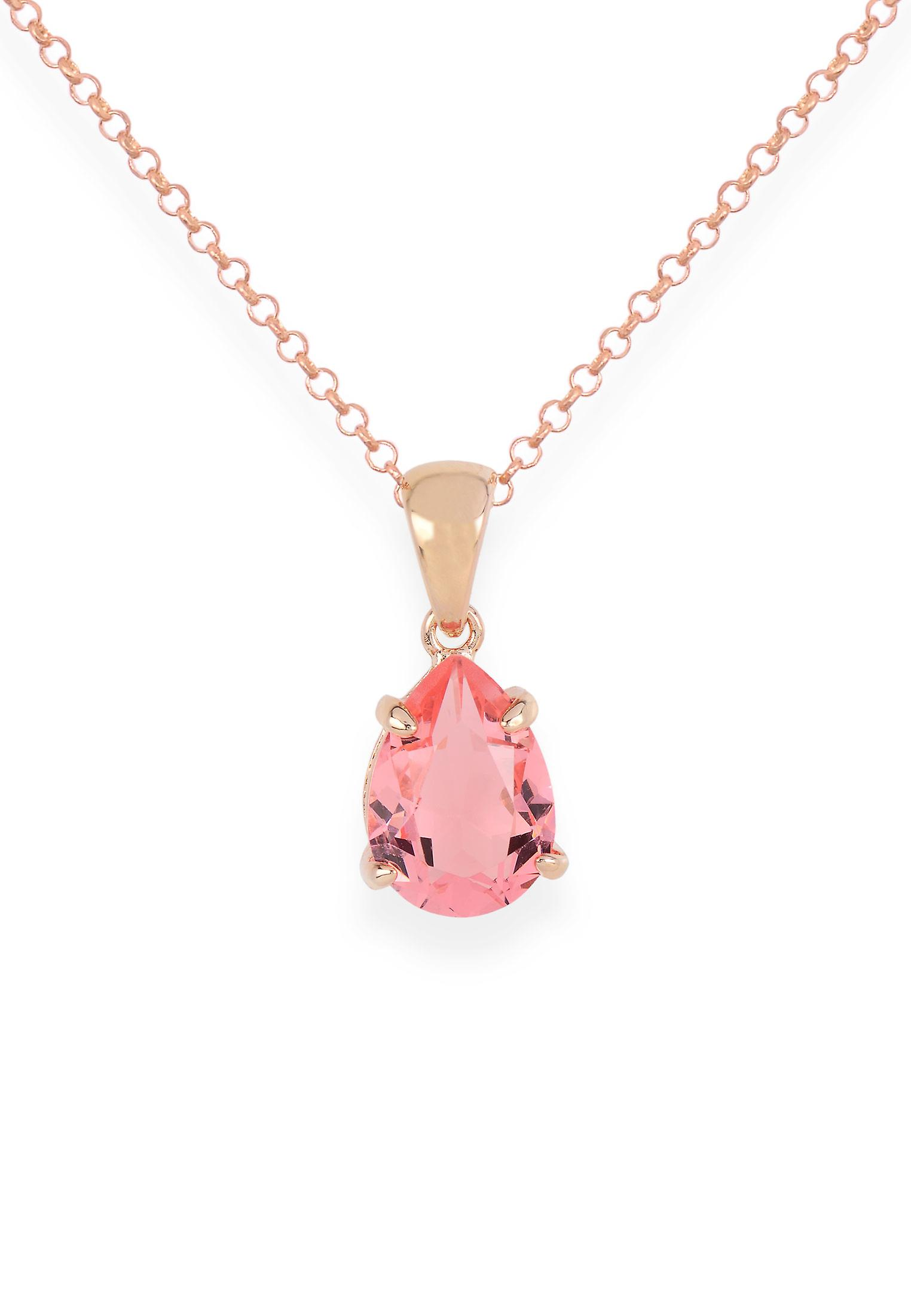 Pink pendant with crystals from Swarovski 9194