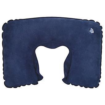 TRIXES Blue Inflatable Neck Travel Pillow Head Rest Cushion