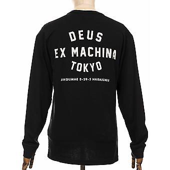 Deus Ex Machina L/s Tokyo Address Tee - Black