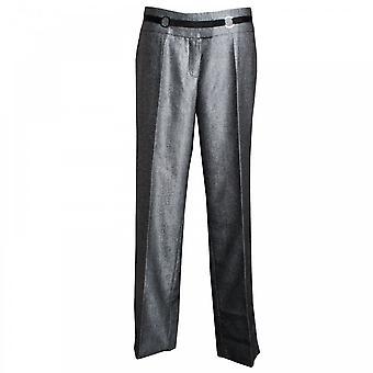 Tuzzi Grey Straight Leg Tailored Trousers