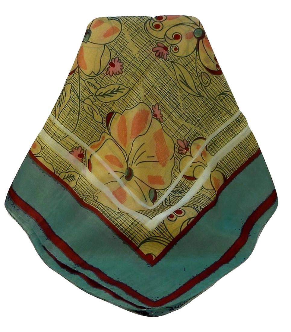 Mulberry Silk Contemporary Square Scarf Bihar Red by Pashmina & Silk