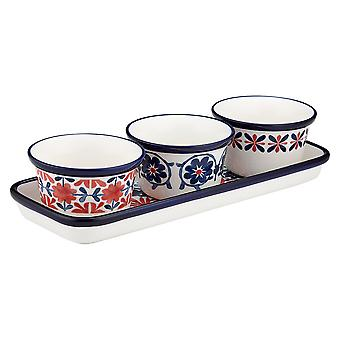 Ladelle Fiesta Red 4 Piece Bowl Set