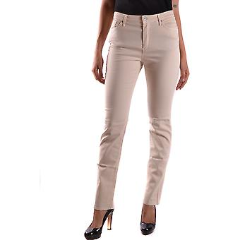 Incotex Ezbc093008 Women's Beige Cotton Jeans