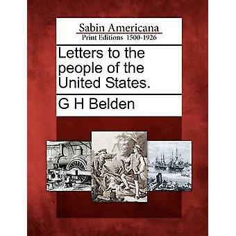 Kirjeitä ihmisille Yhdysvalloissa. Belden & G h