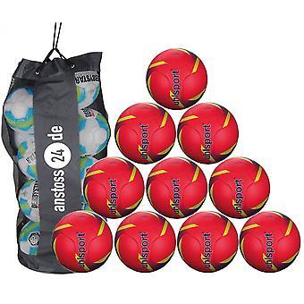 10 x Uhlsport utbildning bollen PRO SYNERGY inkluderar bollen säck