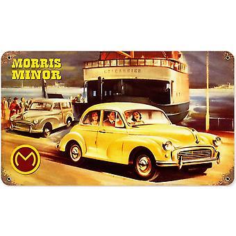 Morris Minor ruostunut metalli allekirjoittaa 360 X 205 Mm