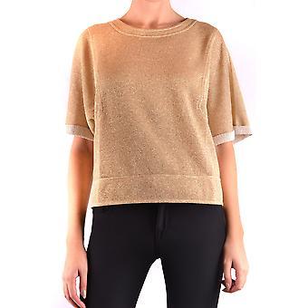 Filosofia Por Lorenzo Serafini Ezbc087029 Women's Gold Viscose Sweater